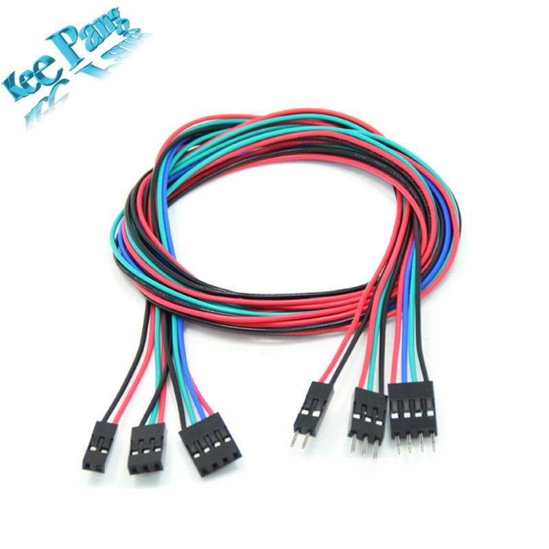 5 stücke 2pin 3pin 4pin Stecker auf Buchse Dupont Kabel 70 cm 3D ...