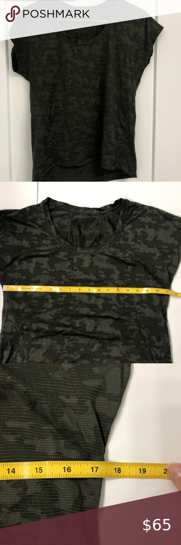 Lululemon workout camo top Check out this listing