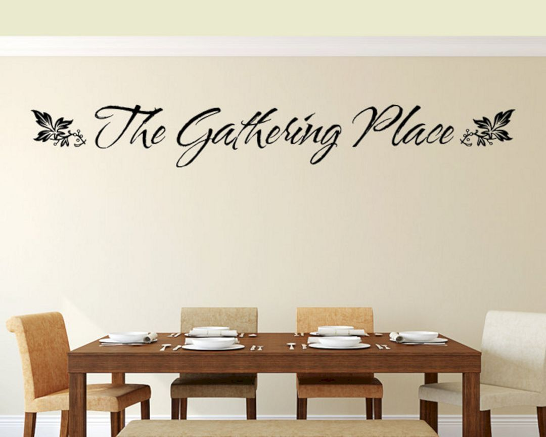 Brilliant 25 Most Inspiring Dining Room Wall Decal Ideas That You Need To Copy