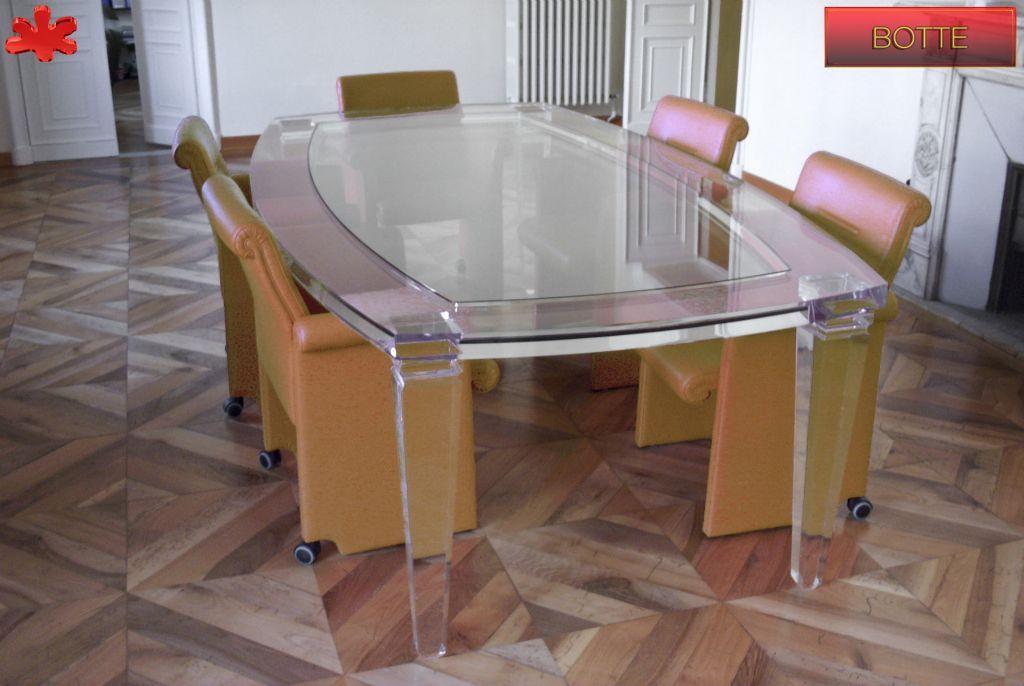Tavolo botte ~ Tavoli da riunione in plexiglas tavolo riunioni trasparente in