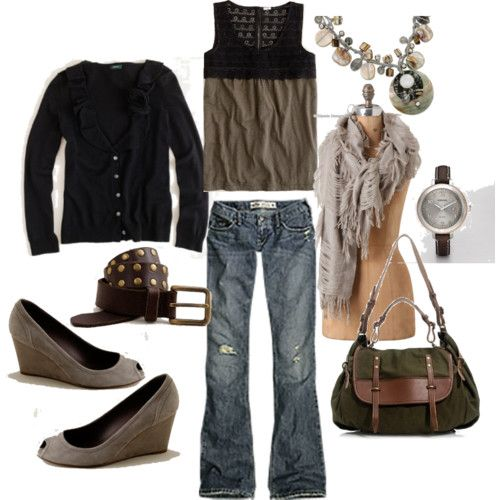 love the wedges and scarf