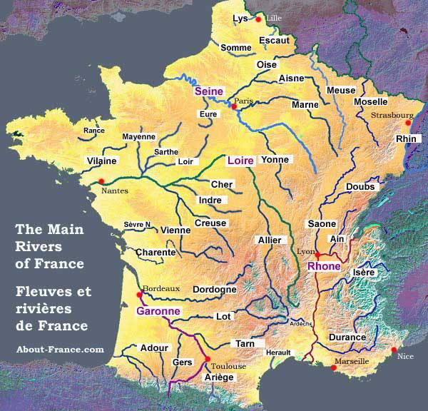 carte des riviere de france Carte des principales fleuves et rivières de France en 2020