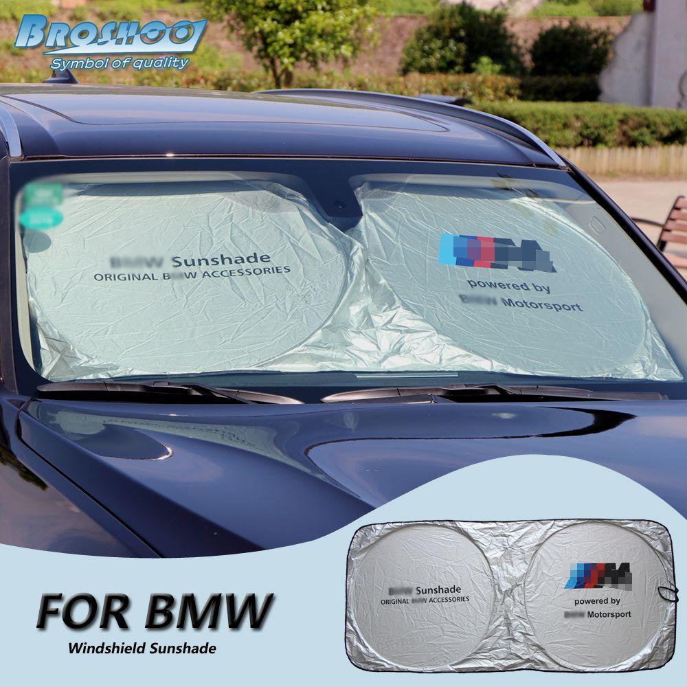 Broshoo Car Windscreen Sunshade Front Window Sun Shade Windshield Visor Cover For Bmw X1 X3 X5 F14 X6 F16 E30 Window Sun Shades Exterior Accessories Windshield
