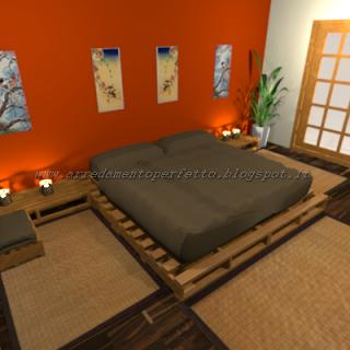 La camera da letto in stile orientale realizzata con l\'uso ...