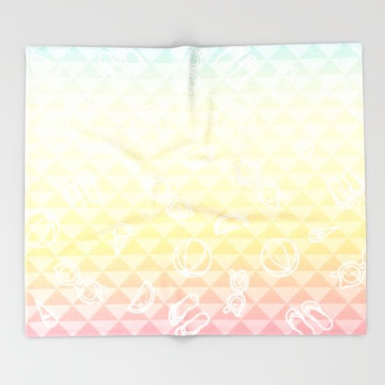 Summer is a state of mind Throw Blanket
