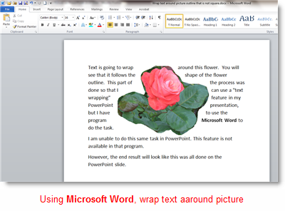 word wrap in ms word