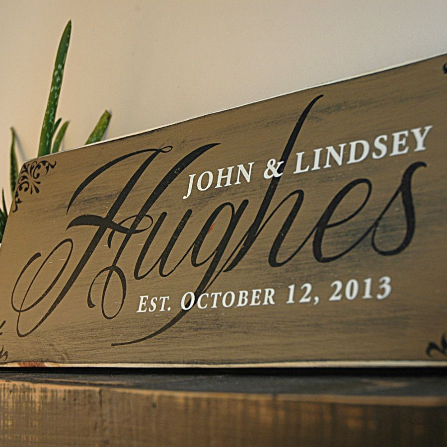 Handmade Family Last Name Sign Established Sign Rustic Wood Sign Family Wood Signs Rustic Wood Signs Wooden Signs