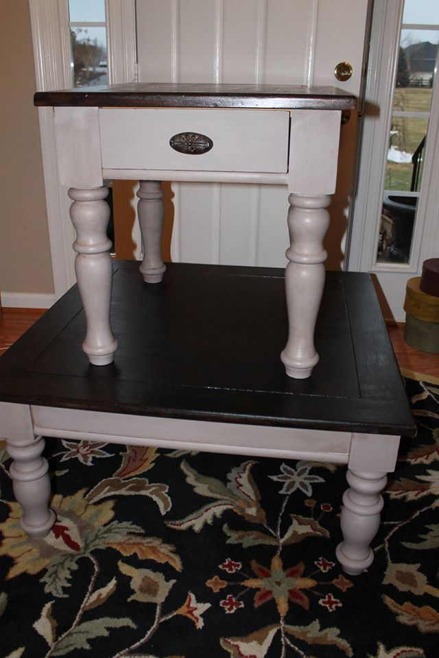 To Redo Our Broyhill End Tables She Used Cece Caldwell S Kakui Stain Tahoe Taupe And An Aging Wax Finish I Ll Try My Gel Broyhill Furniture Furniture Decor