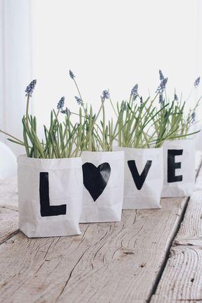 diy blumentopf selber machen last minute geschenk the love of plants pinterest basteln. Black Bedroom Furniture Sets. Home Design Ideas
