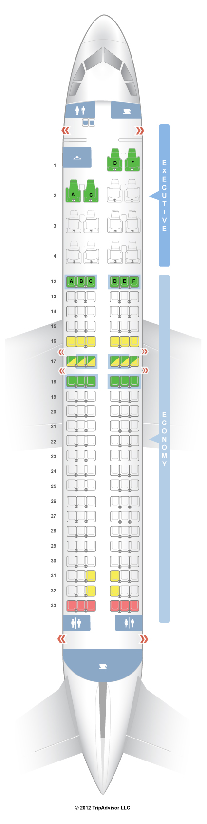 SeatGuru Seat Map Air Canada Airbus A320 (320) Air