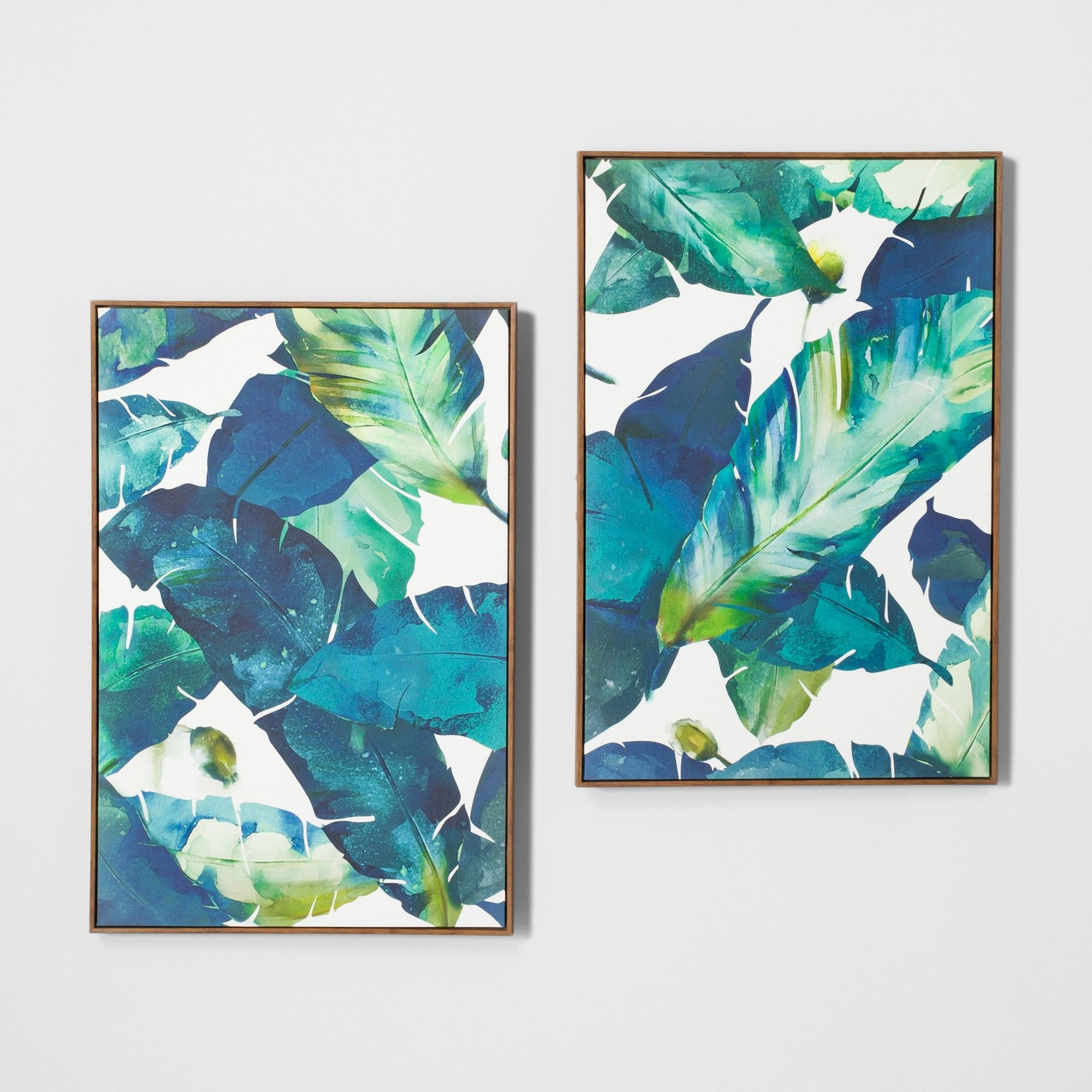 LARGE ABSTRACT CANVAS ART PRINT VIBRANT BLUE FRAMED A1