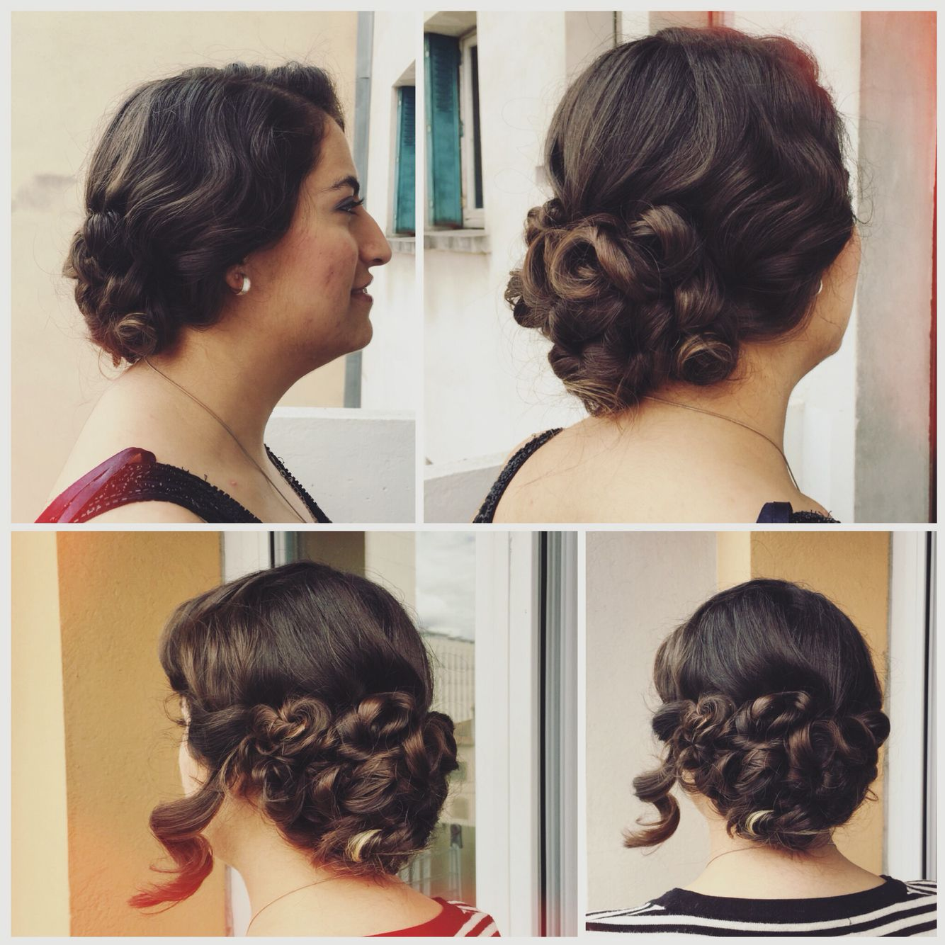 Flapper girl updo for long thick hair | Thick hair styles ...