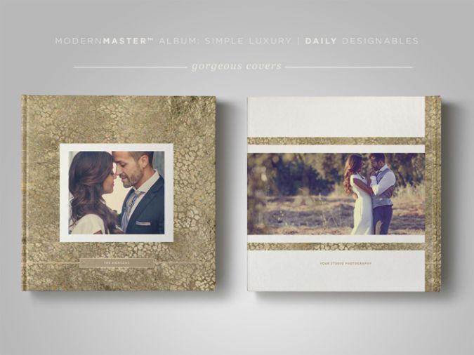 ModernMASTER™ ProPhotographer Album Template Simple Luxury - free album templates