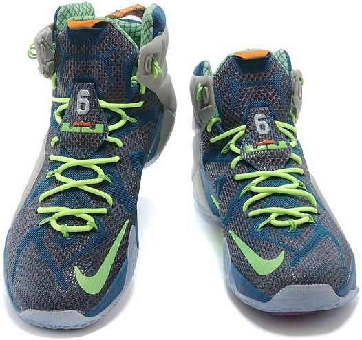 cheap for discount c4948 78e69 LeBron 12 Grey Blue Green Shoes0