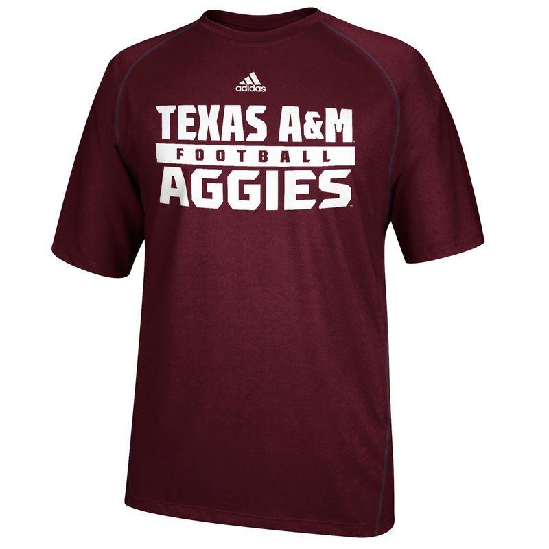 Texas A&M Aggies adidas Red Zone Evade Performance TShirt