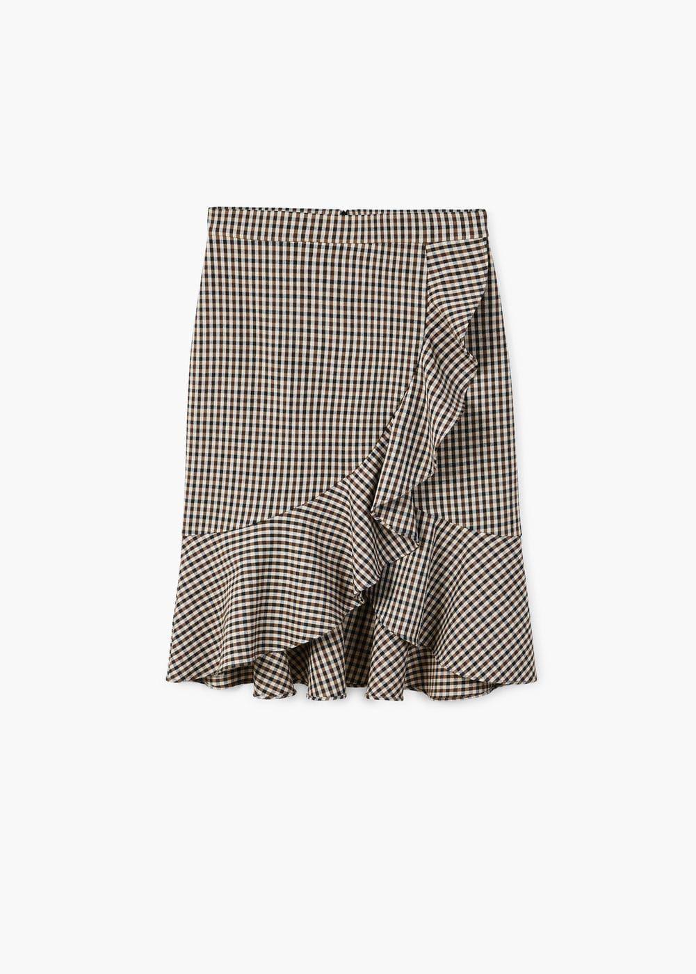 8ba85a0b2 Falda cuadros volante - Faldas de Mujer en 2019