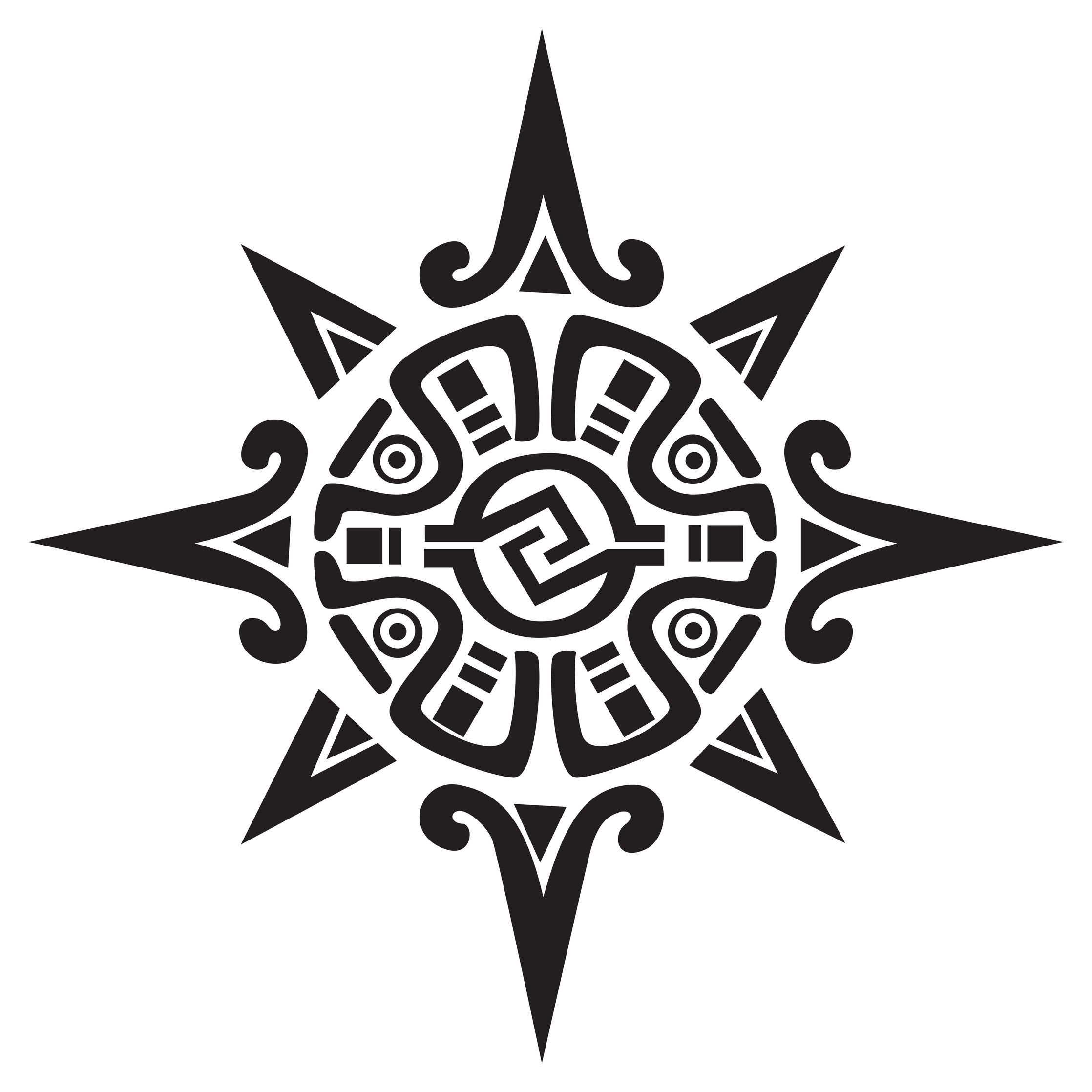 Tribal Tattoo Symbol: 12 Tribal Sun Tattoos – Meanings And Symbols