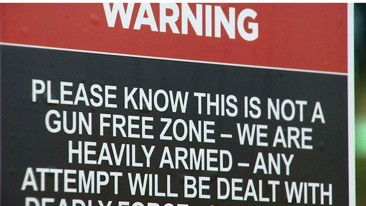 Florida church warns at every door we are heavily armed