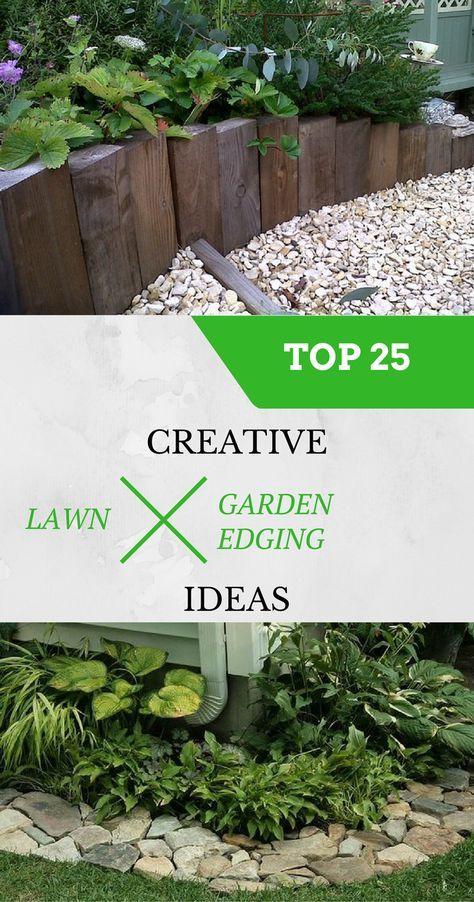 Top 25 creative lawn and garden edging ideas.   Garden ...