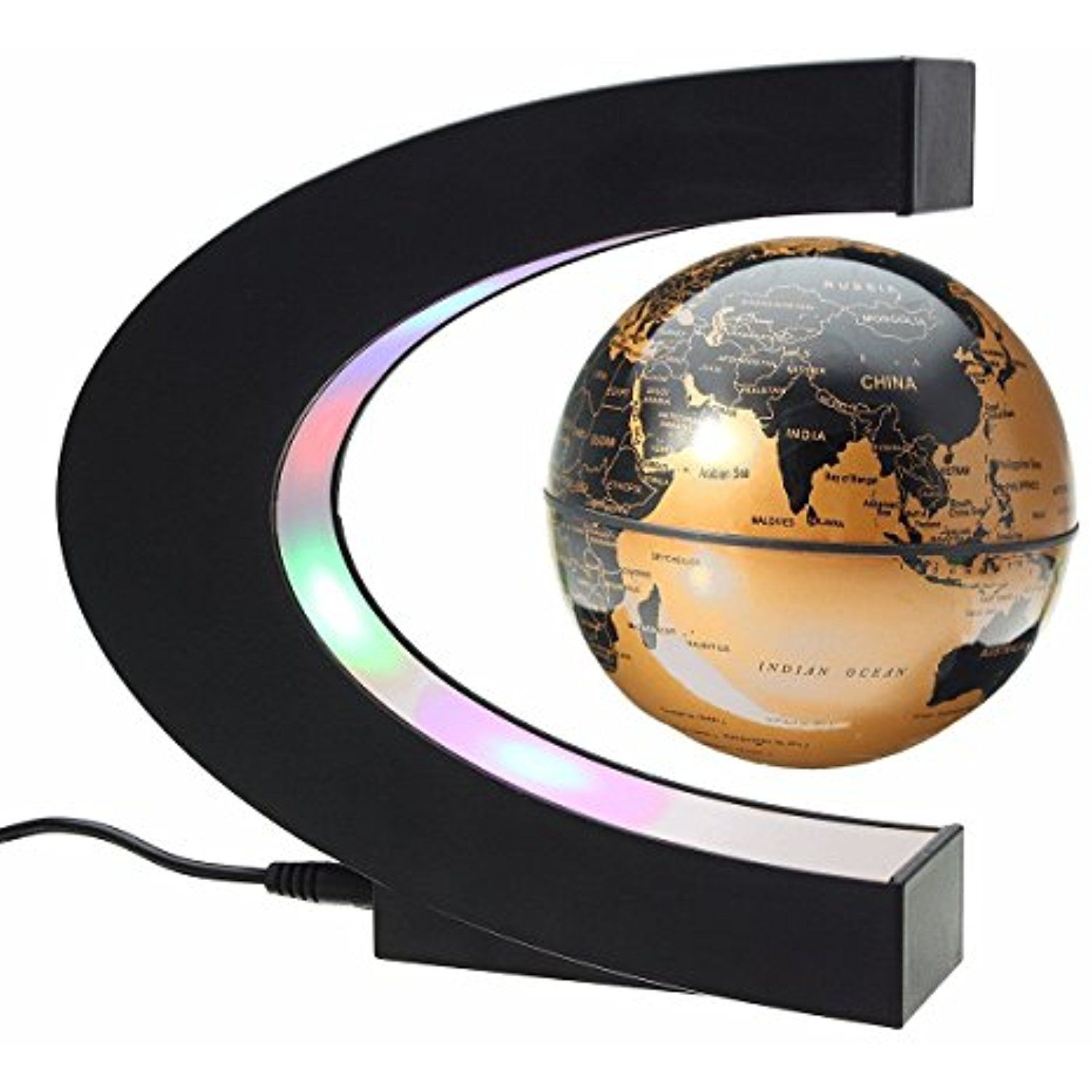 Floating globe magnetic levitation rotating anti gravity globe world floating globe magnetic levitation rotating anti gravity globe world map earth planet with c shape gumiabroncs Image collections
