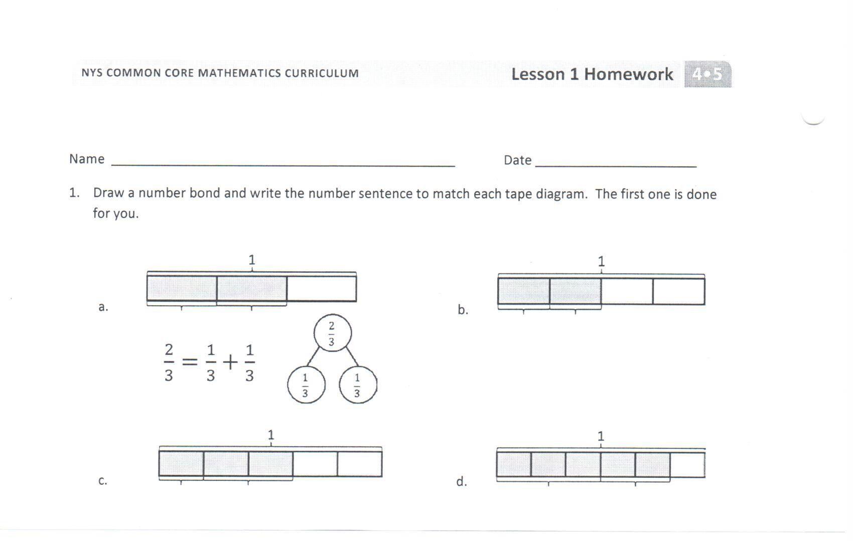 Fraction Diagrams Worksheet