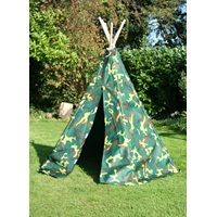 CAMOUFLAGE CHILDRENS WIGWAM by Garden Games £52.95 #Spring #Summer #Outdoor #Garden #Wigwam #Tent