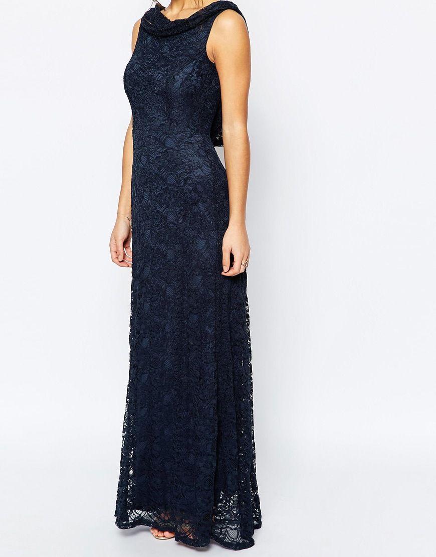 John zack long maxi lace evening dress