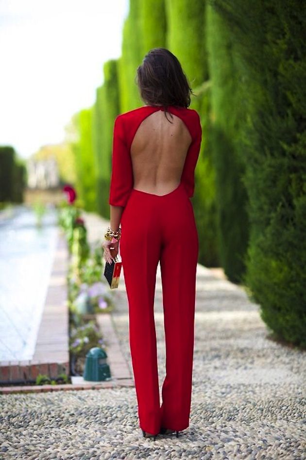 open back jumpsuit. cute, not sure where i would wear it and what ...