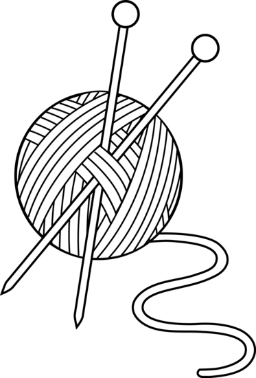 Black and White Knitting Set - Free Clip Art | Embroidery ...