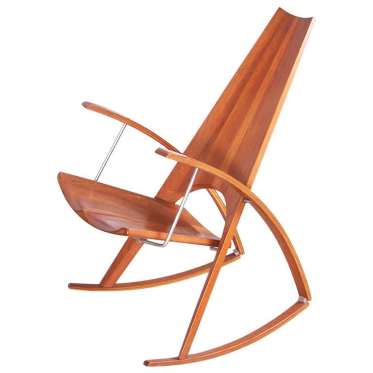 Studio Rocking Chair by Leon Mayer in Solid Walnut