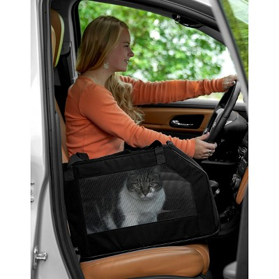 Outstanding Pet Gear Car Seat Cat And Dog Carrier Up To 20Lb Black Evergreenethics Interior Chair Design Evergreenethicsorg