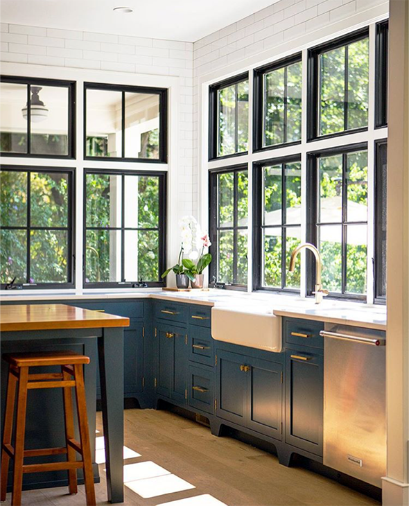 Kitchen Design With Big Windows