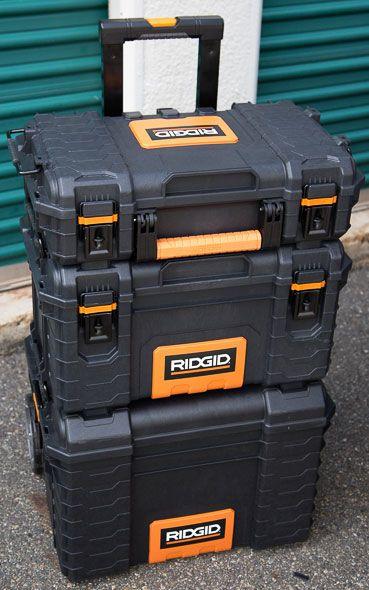 Ridgid Pro Organizer Tool Box And Gear Cart Review Tool Box Ridgid Tools Rigid Tool Box