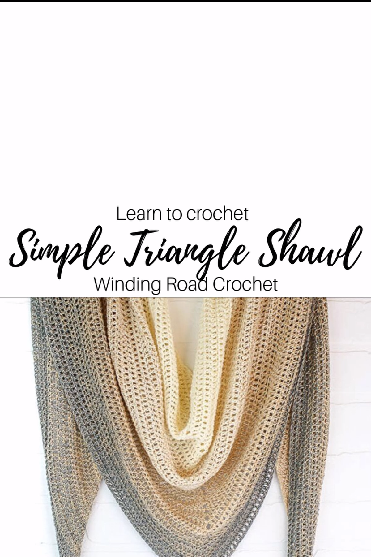 Photo of Beginner's Triangle Crochet Shawl with Video Tutorial