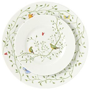 Wing Song Birds Porcelain Dinnerware - traditional - dinnerware - Gracious Style  sc 1 st  Pinterest : bird dinnerware - pezcame.com
