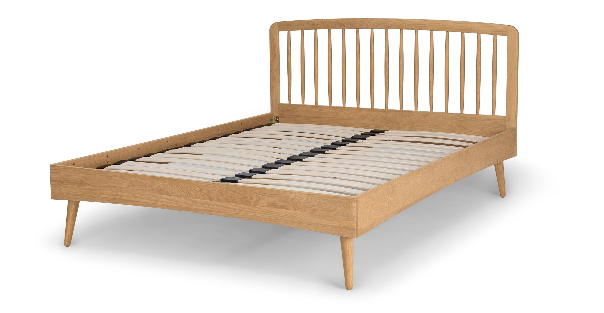 Best Culla Spindle Oak Queen Bed Beds Article Modern Mid 400 x 300