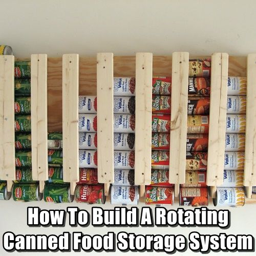 How To Build A Rotating Canned Food Storage System Root