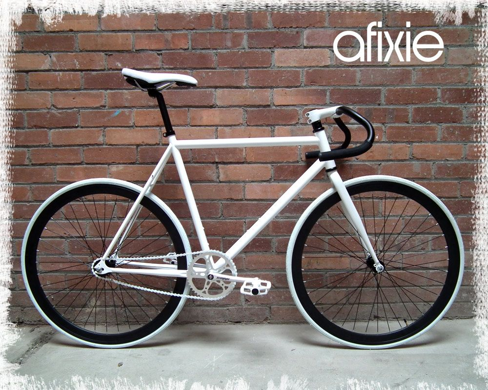 All White Fixie Bike Bing Images Bicycles Fixie Cheap Bikes
