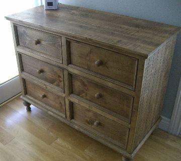 Borboleta Decors Aged Pine Dresser For Nightstand