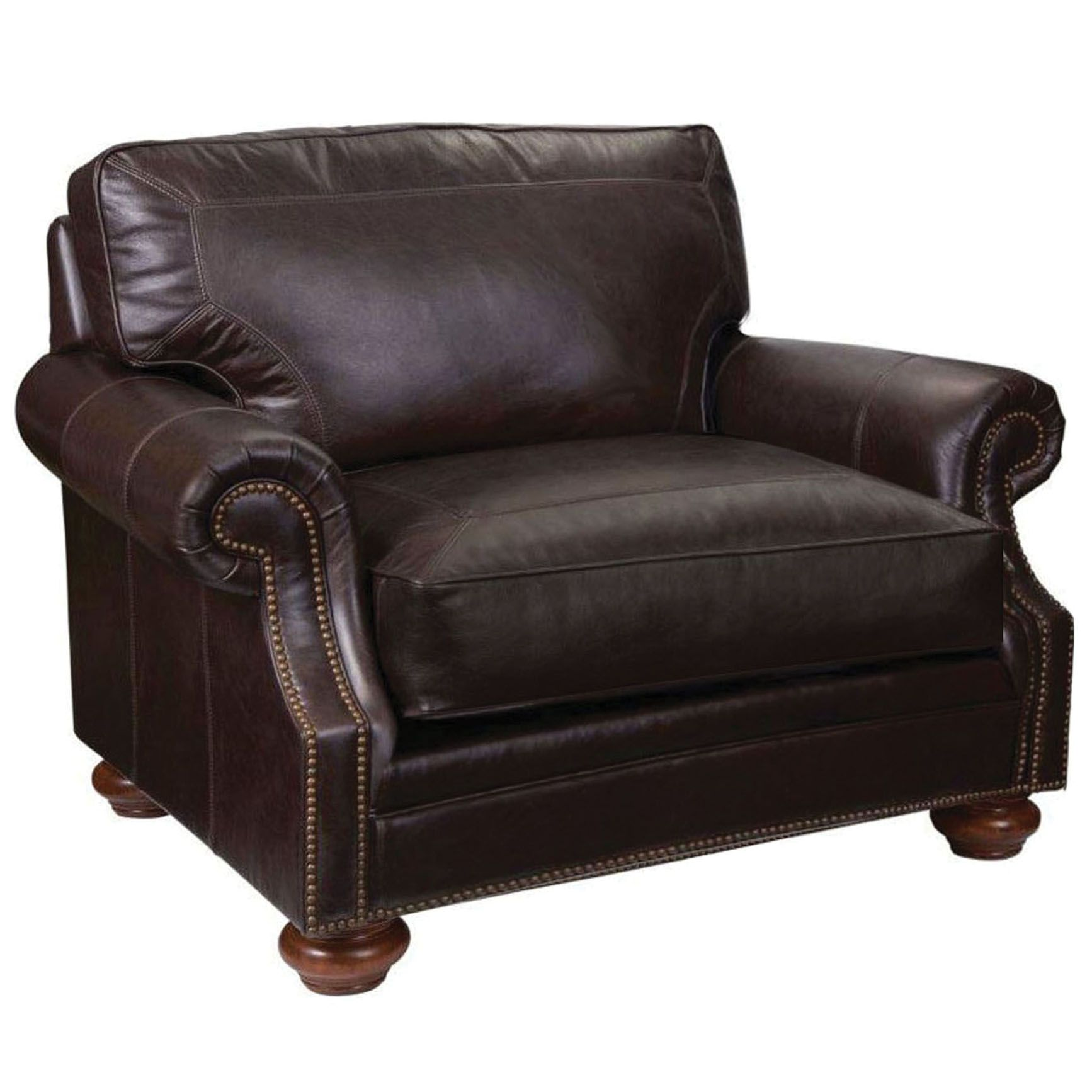 Broyhill tanners choice heuer leather chair and a half bh