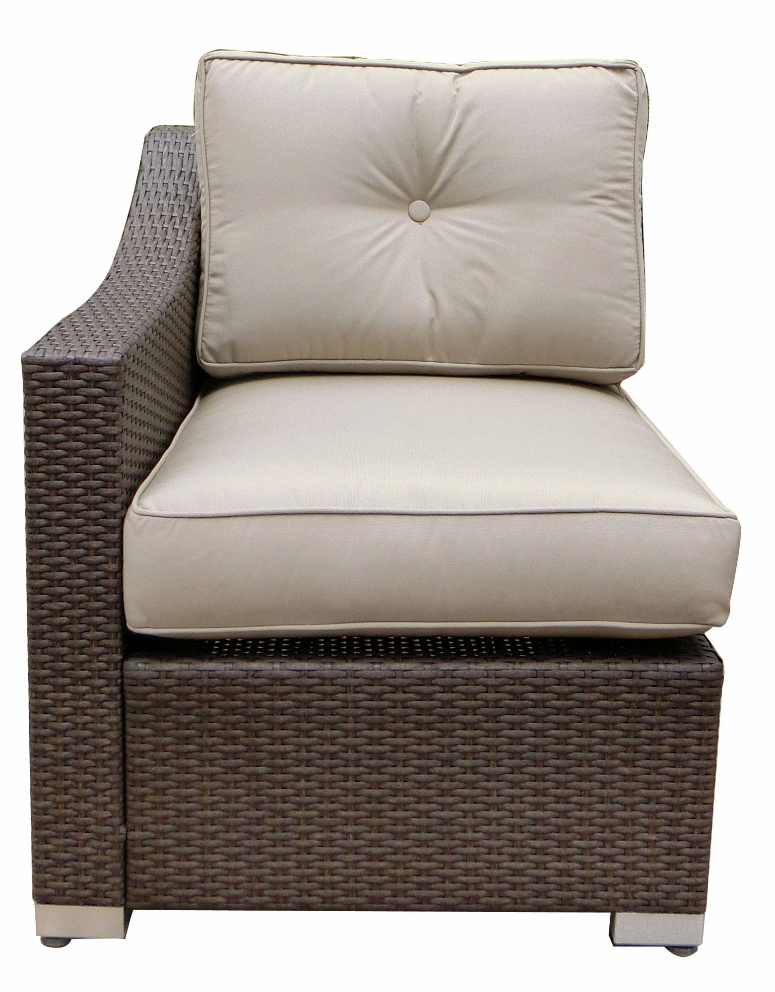 Gillum Outdoor Patio Chair With Cushions Set Of 2 Single Chair