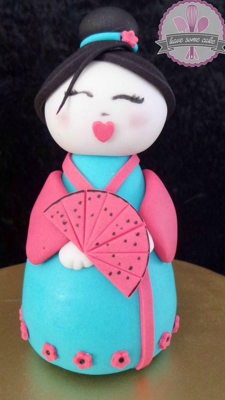Geisha Cake Topper