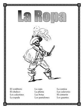 La Ropa-Label the clothes Spanish-