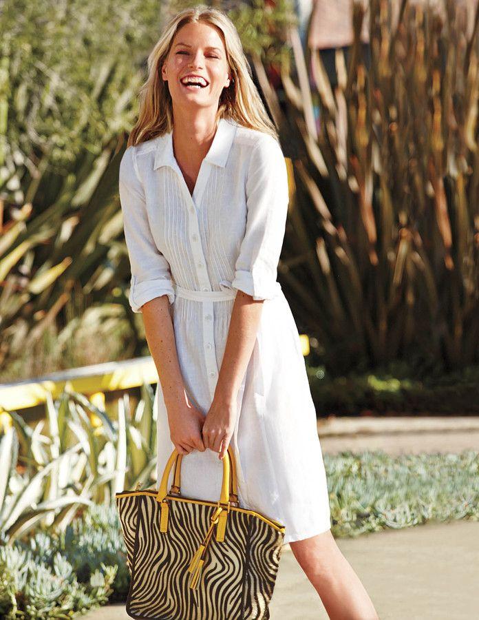 pretty cheap official shop the sale of shoes Boden Linen Shirt   dressed: black + white   Linen shirt ...