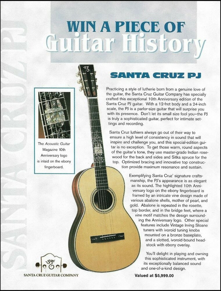 Pin On Santa Cruz Acoustic Guitar Advertisements Ad Prints