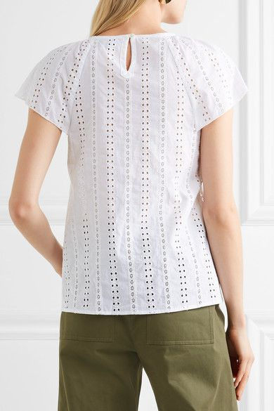 A.P.C. Atelier de Production et de Création - Mina Broderie Anglaise Cotton Top - White - FR