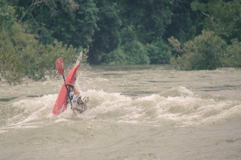 Vertical Kayaking because horizontal kayaking isn't enough of a challenge
