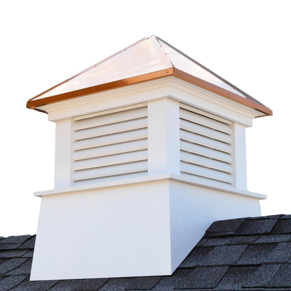 Good Directions Manchester 22 In X 27 In Vinyl Cupola With Copper Roof 2122mv In 2020 Copper Roof White Vinyl Architectural Elements