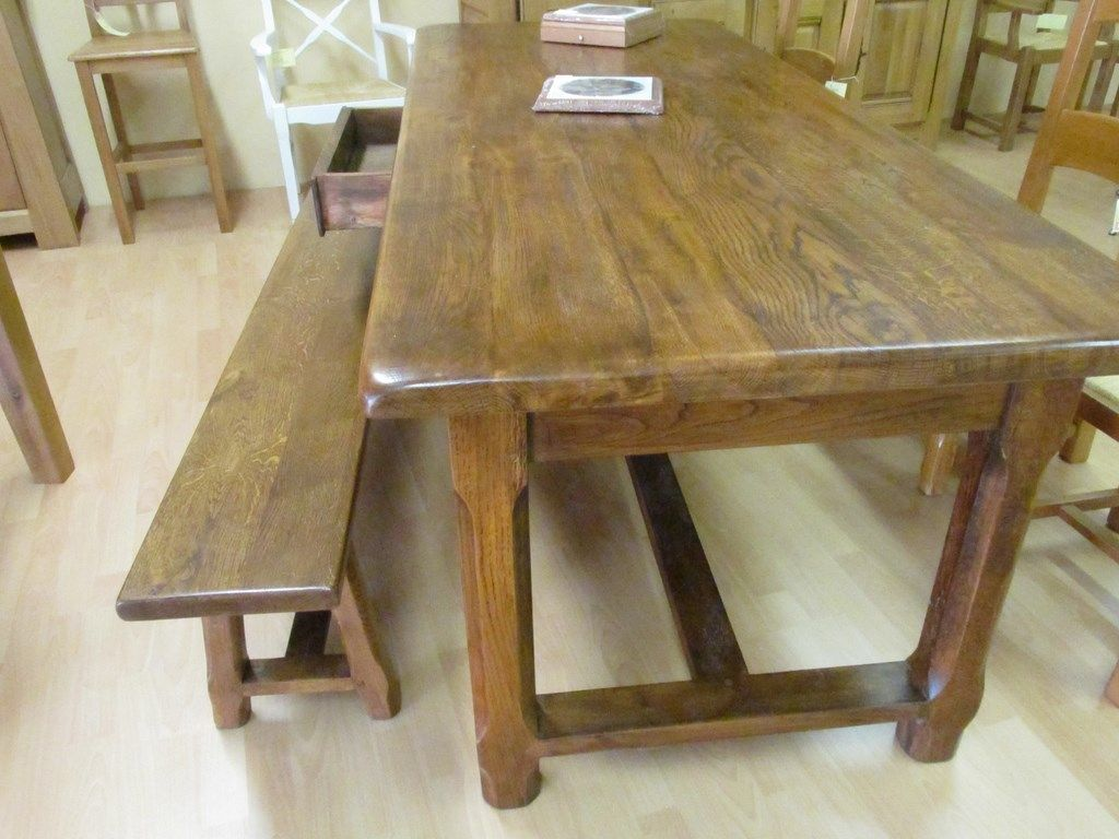 Table De Ferme Meuble Pinterest Table De Ferme Ferme Et Table # Banc De Ferme Dossier