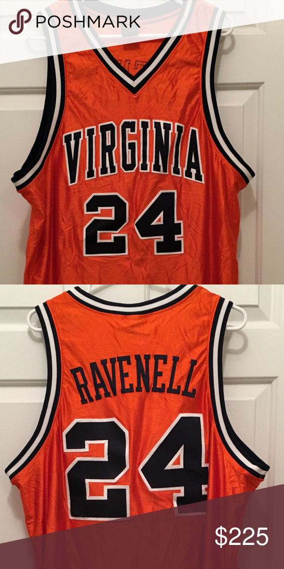 a96153f0ad803 Virginia UVA Cavaliers Basketball Game Worn Jersey Description  University  of Virginia Cavaliers Andy Burns Game